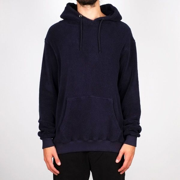 DEDICATED - FALUN HOODIE PLUSH Hooded Sweater navy