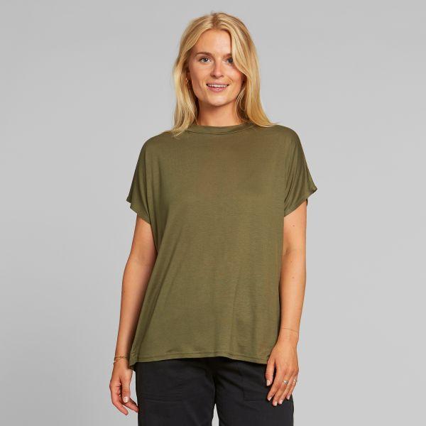 DEDICATED - FLOR TOP T-shirt leaf green