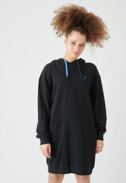 CLEPTOMANICX - DOUBLE Hoody Kleid black