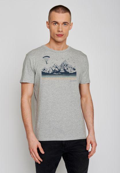GREENBOMB - BIKE FLY Guide T-Shirt heather grey