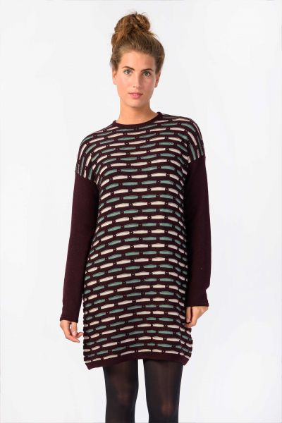 SKUNKFUNK - AHATSA DRESS Kleid black