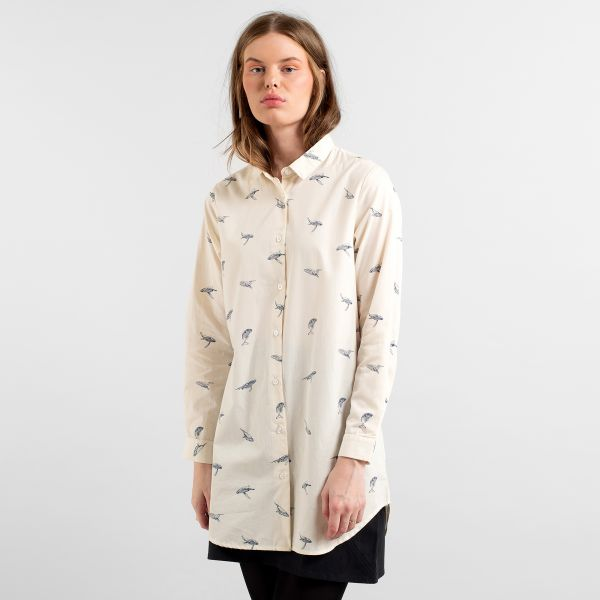 DEDICATED - WHALES FREDERICA SHIRT Shirt off-white
