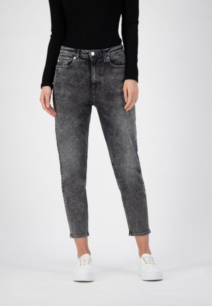 MUD JEANS - MAMS TAPERED STRETCH Jeans heavy stone black
