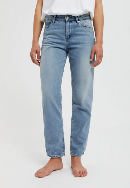 ARMEDANGELS - FJELLAA CROPPED STRAIGHT FIT MID WAIST Jeans mid blue