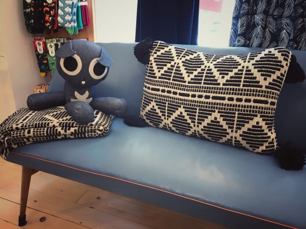BLOOMINGVILLE - GUTTE KISSEN, Cushion, black, recycled cotton