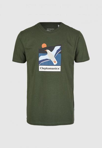 CLEPTOMANICX - SAVE THEM Shirt scarab green