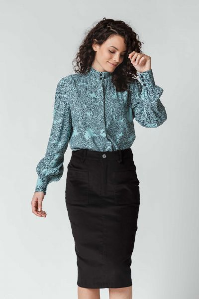 SKFK - AIZARO Shirt Bluse BZ hostoak blue