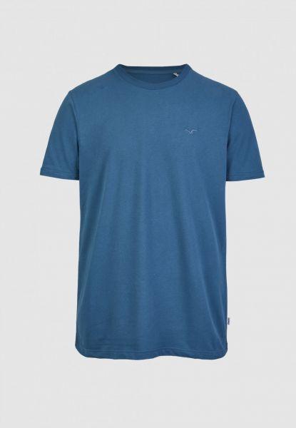 CLEPTOMANICX - LIGULL REGULAR T-Shirt blue coral