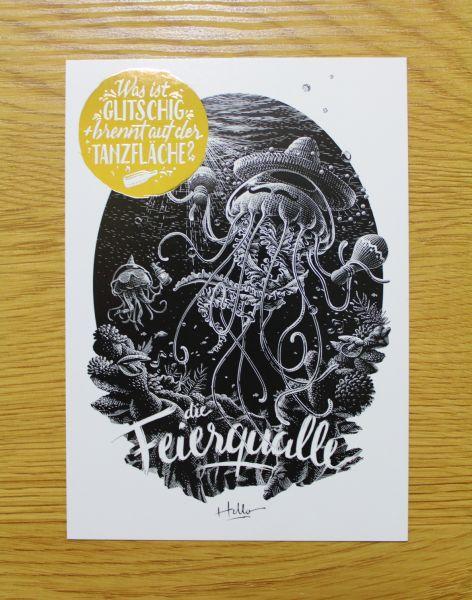 HELLOGEROWSKY - HASCHKY Postkarte Art Print
