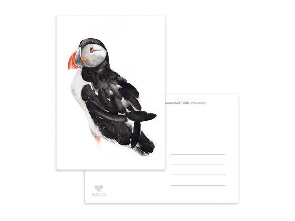 MALUU - PUFFIN Postkarte A6