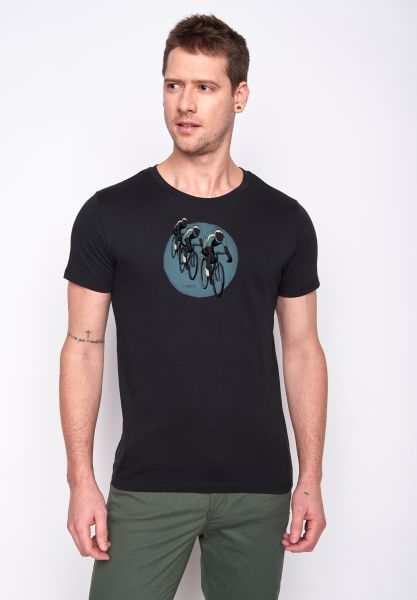GREENBOMB - BIKE TOUR Guide T-Shirt navy
