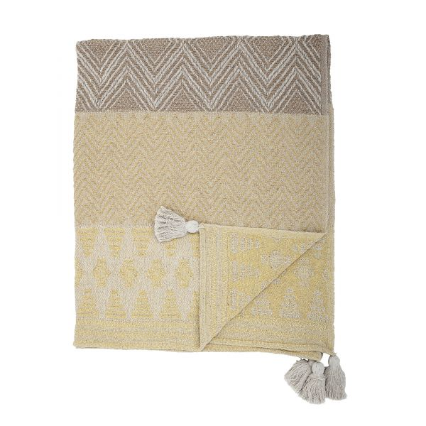 BLOOMINGVILLE - NOME THROW Recycled Cotton yellow