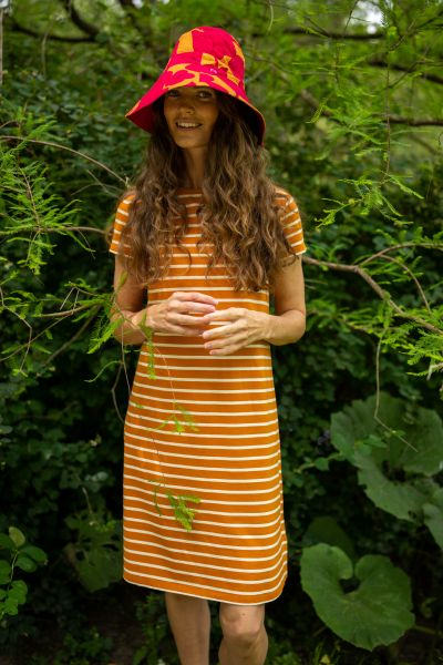 DANEFAE - ORGANIC DOMINGO DRESS Kleid honey/chalk