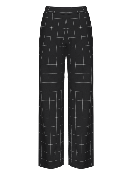 MADEMOISELLE YEYE - AND TAKE A TRIP Trousers Hose checkered black