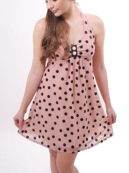 MYDEARLOVE POPPY Kleid rosa Punkte