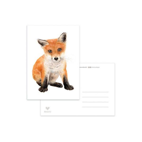 MALUU - RED FOX Postkarte A6