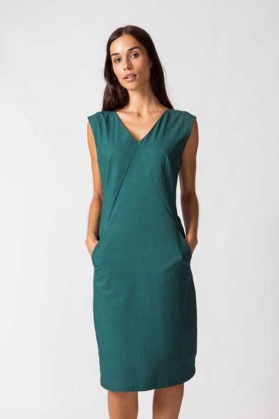SKFK - ZERUA DRESS Kleid G9 dark green
