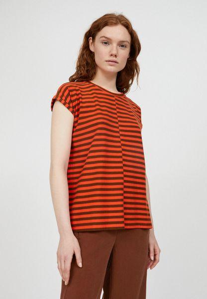 ARMEDANGELS - JAARIN KNITTED STRIPE Shirt glossy orange-cacao