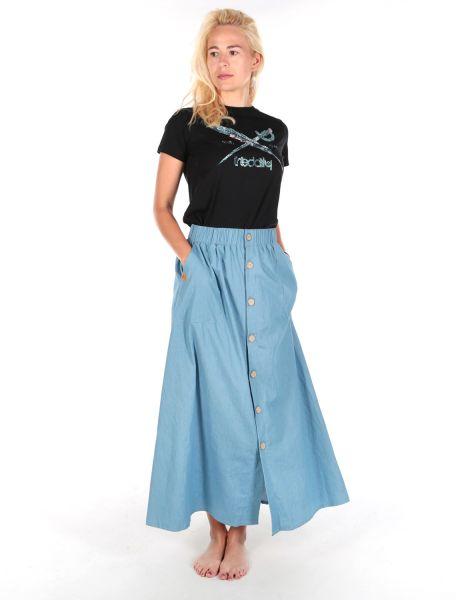 IRIE DAILY - CIVIC LONG SKIRT Rock light blue