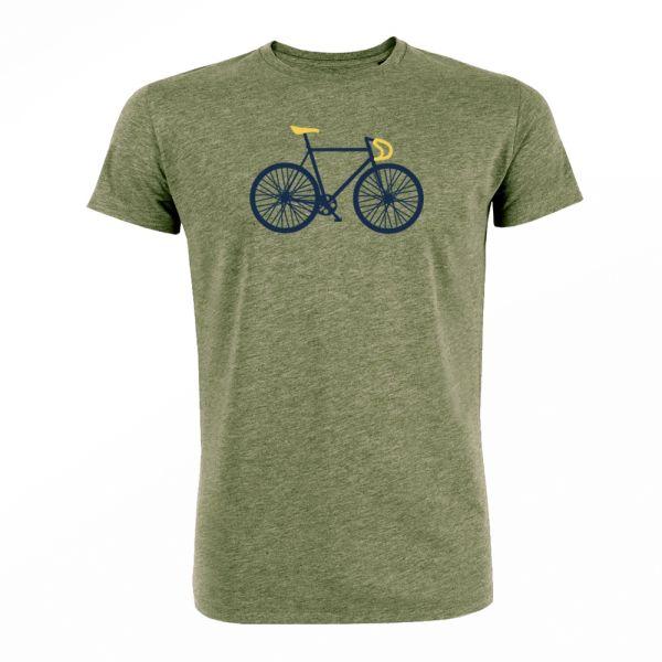 GREENBOMB - BIKE FREE Guide T-Shirt mid heather khaki