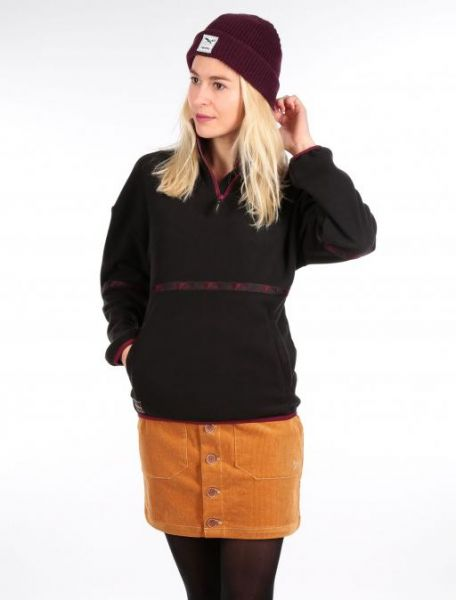 IRIE DAILY - HOPI FLEECE TROYER Fleece-Pullover black
