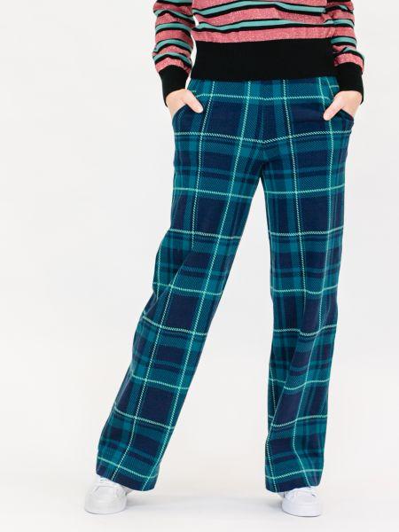 MADEMOISELLE YEYE - ONE STEP BEYOND Trousers Hose tartan blue green