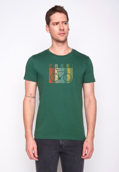 GREENBOMB - BIKE RETO STRIPED GUIDE T-Shirt bottle green