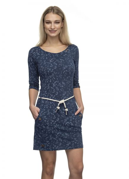 RAGWEAR - TANYA LEAVES Dress Kleid navy