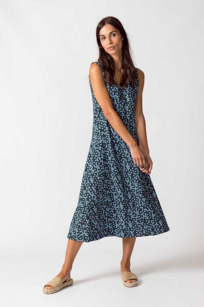 SKFK - KAIA DRESS Kleid G9 floral blue