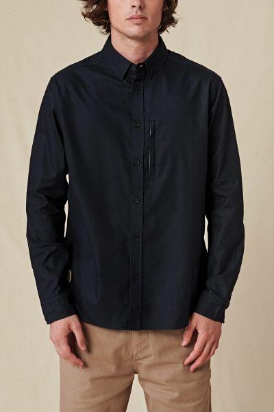 GLOBE - FOUNDATION LS SHIRT Hemd black