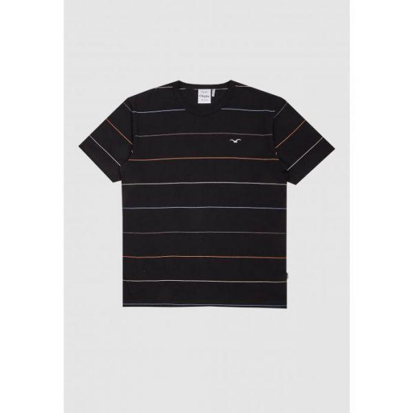 CLEPTOMANICX - MULTI STRIPE  Shirt black