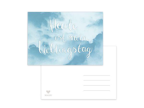 MALUU - LIEBLINGSTAG Postkarte A6