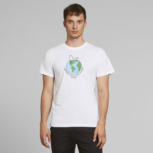 DEDICATED - SNOOPY EARTH Stockholm Shirt white