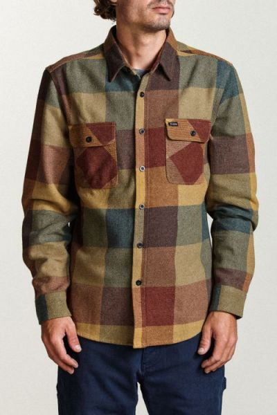 BRIXTON - BROWERY L/S FLANNEL Hemd rust/copper
