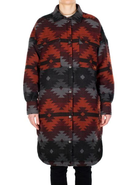 IRIEDAILY - TEAM SHERPA COAT Jacke anthra red