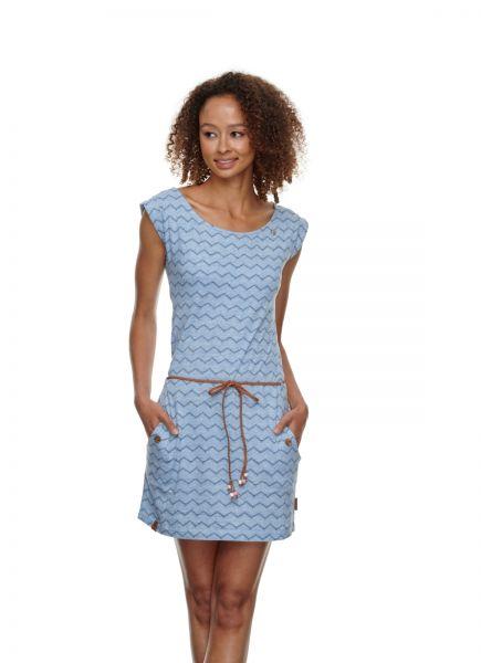 RAGWEAR - TAG CHEVRON DRESS Kleid blue