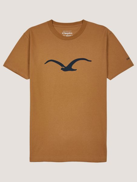 CLEPTOMANICX - MOWE T- Shirt Basic Tee bone brown