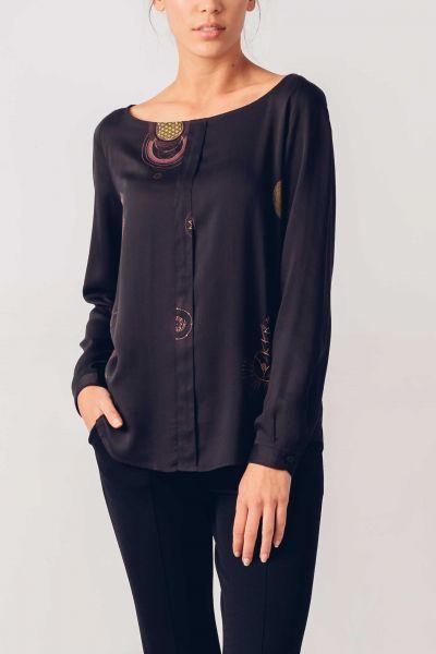 SKFK - HAITZ SHIRT Bluse 2N black