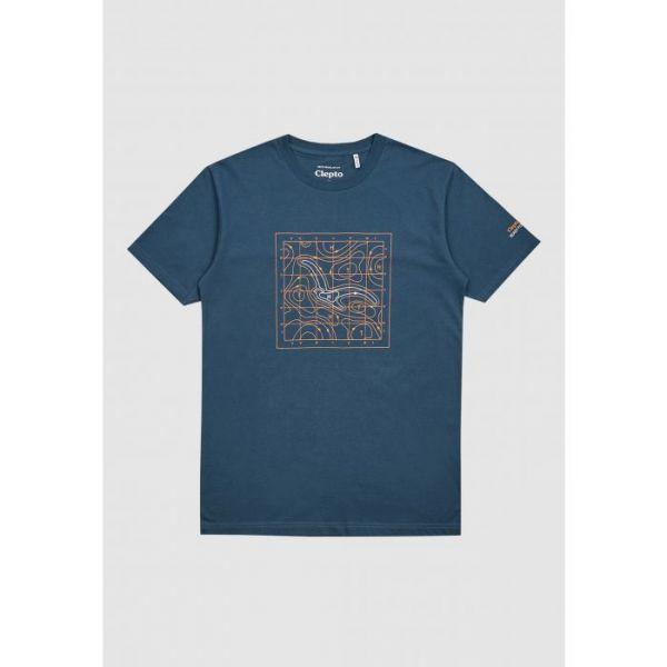 CLEPTOMANICX - ISOBA Shirt blue wing