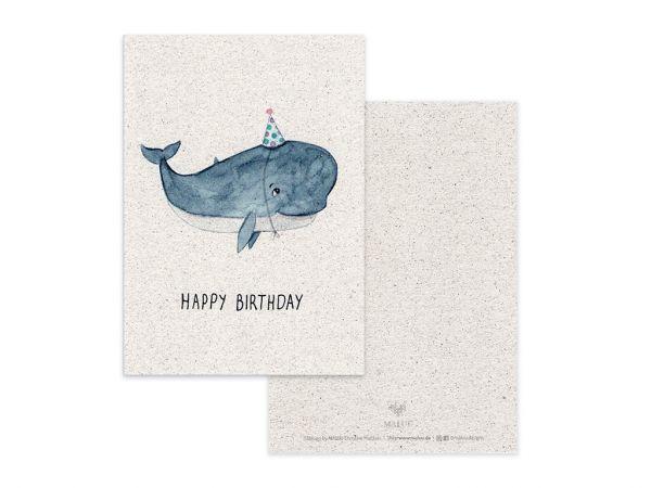 MALUU - PARTYWAL Postkarte Geburtstagskarte A6