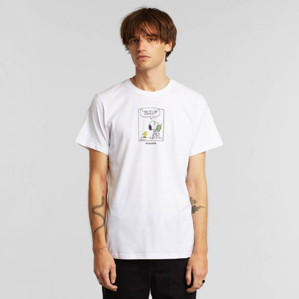 DEDICATED - SNOOPY STUPIDITY Stockholm Shirt white