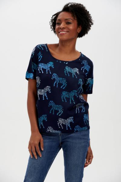 SUGARHILL BRIGHTON - TILDA BATIC TOP Shirt navy - zebra