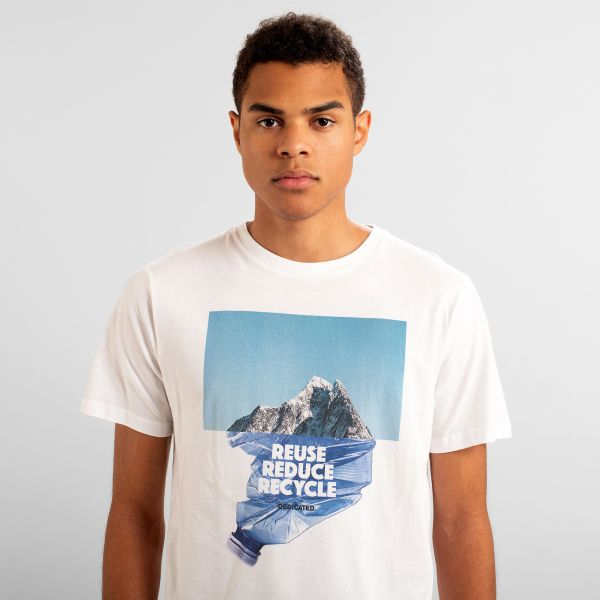 DEDICATED - RECYCLE MOUNTAIN Stockholm Shirt white