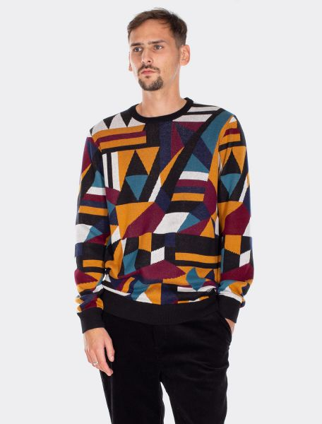 IRIE DAILY - SHUFFLEMANIA KNIT Sweater Pullover cara black