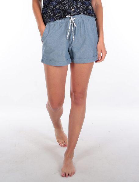 IRIE DAILY - CHAMBRAY GIRL SHORT kurze Hose blue melange