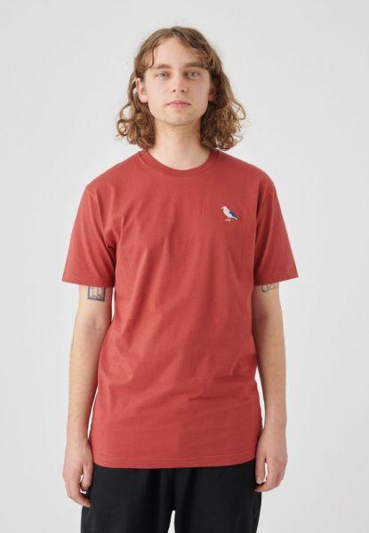 CLEPTOMANICX - EMBRO GULL Shirt rosewood
