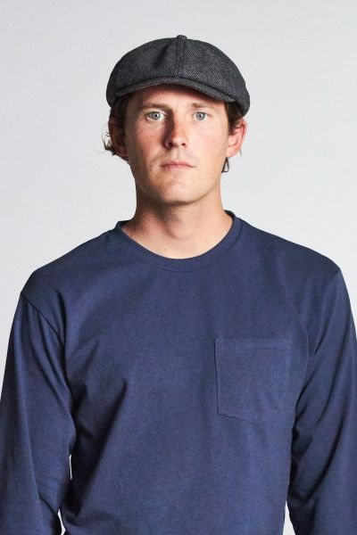 BRIXTON - BROOD SNAP CAP grey/black