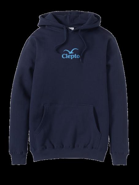 CLEPTOMANICX - C.I.Hooded Sweater dark navy