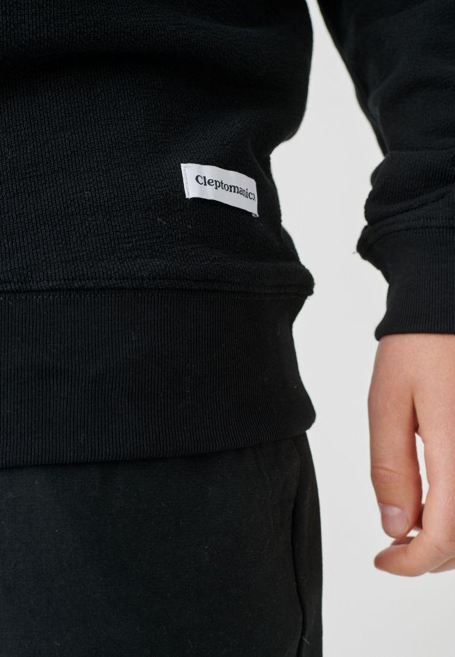 CLEPTOMANICX-FLAMER-Sweatshirt-Crewneck-black-4