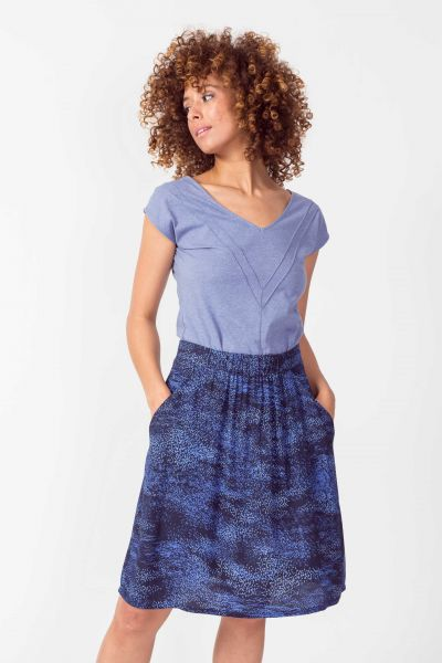SKFK - LUZAIDE SKIRT Rock B6 spray print blue